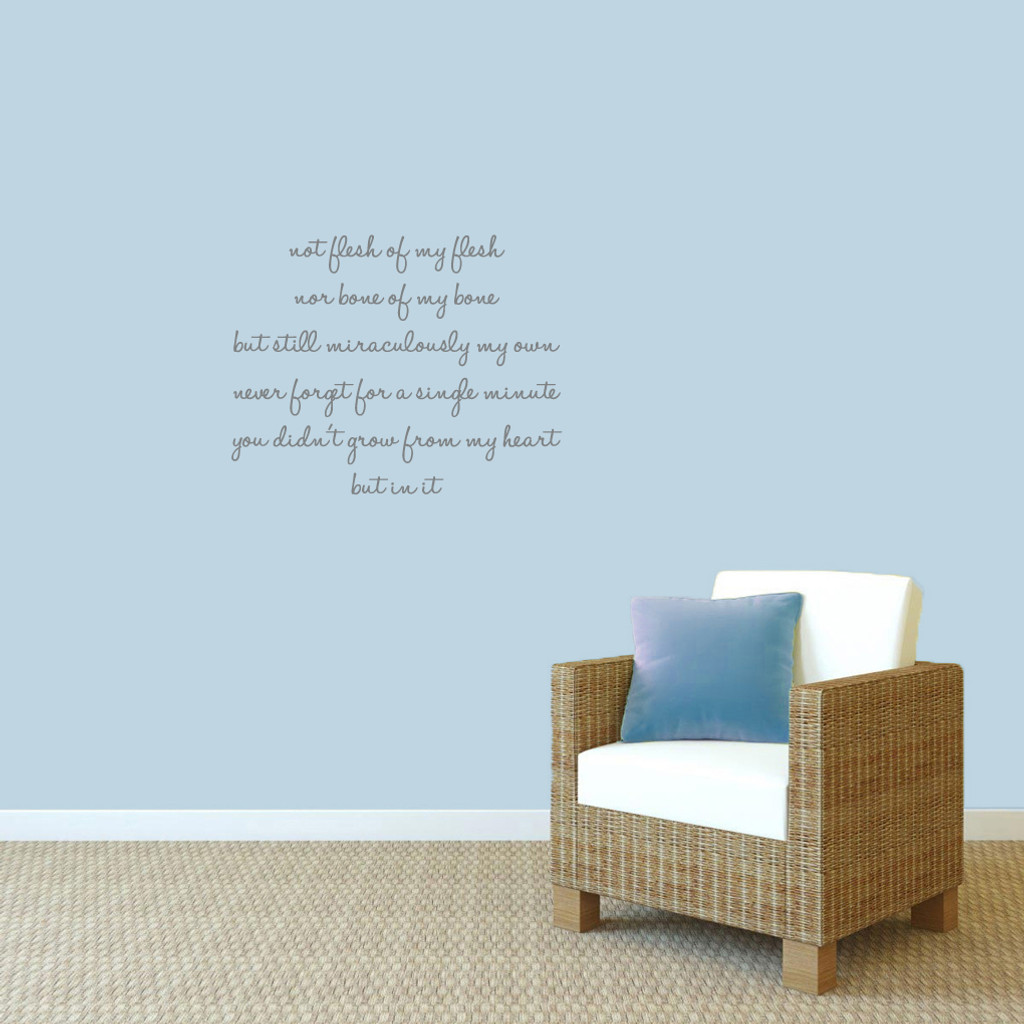 """Adoption Creed Wall Decals 28"""" wide x 22"""" tall Sample Image"""
