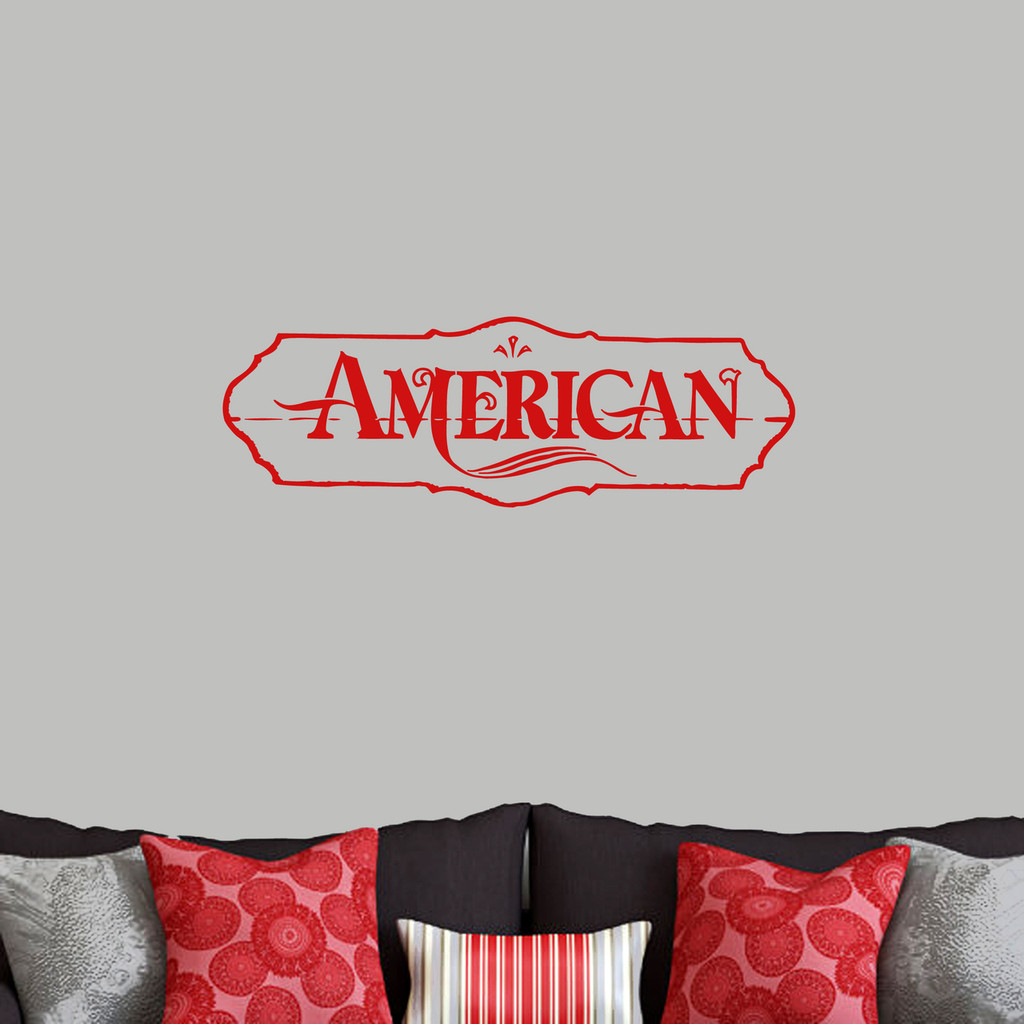 """American Wall Decals 36"""" wide x 12"""" tall Sample Image"""