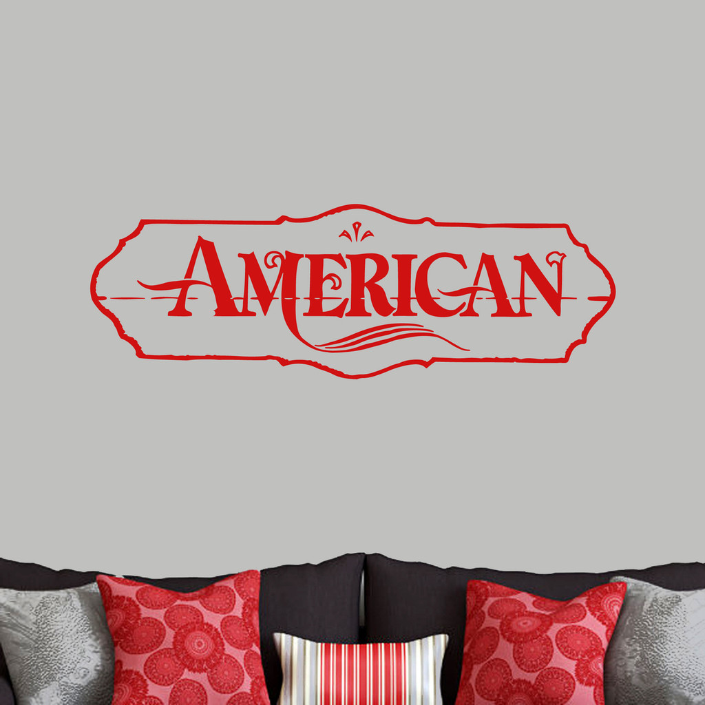 """American Wall Decals 48"""" wide x 16"""" tall Sample Image"""