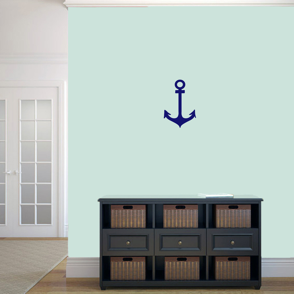 """Anchor Wall Decal 8"""" wide x 12"""" tall Sample Image"""