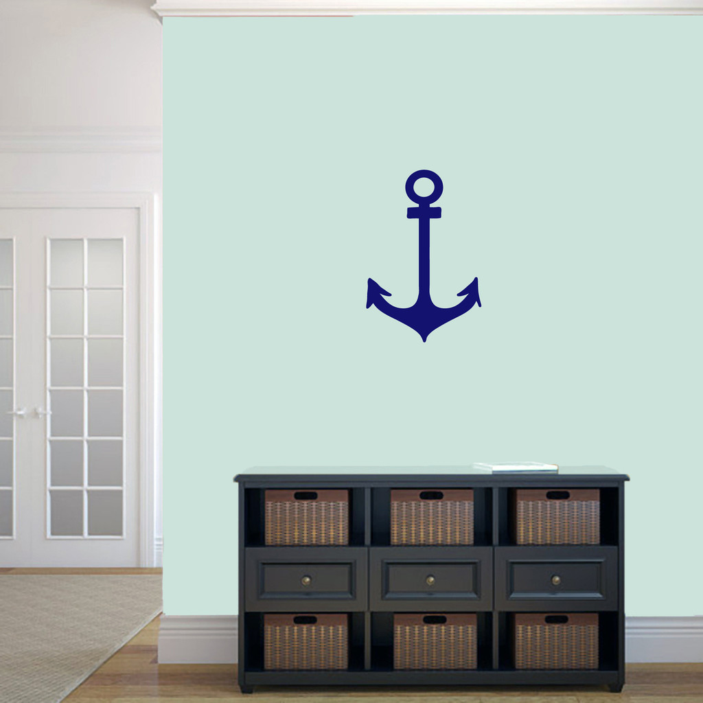 """Anchor Wall Decal 12"""" wide x 18"""" tall Sample Image"""