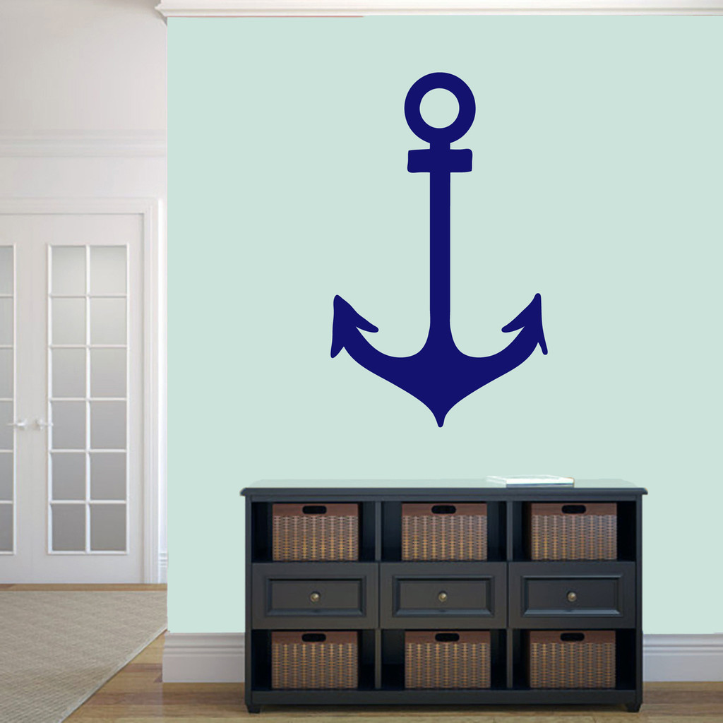 """Anchor Wall Decal 22"""" wide x 36"""" tall Sample Image"""
