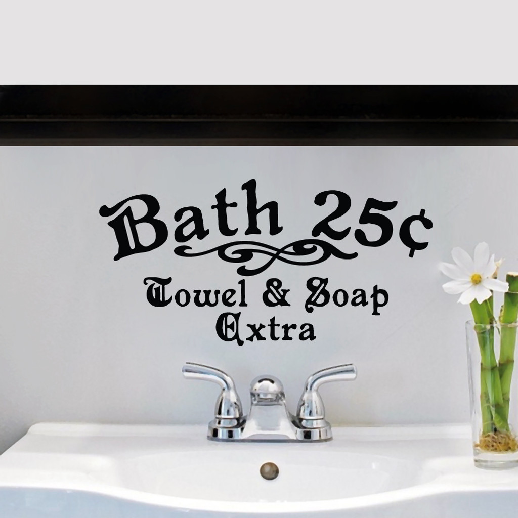 Bath 25¢ Towel & Soap Extra Wall Decals and Stickers