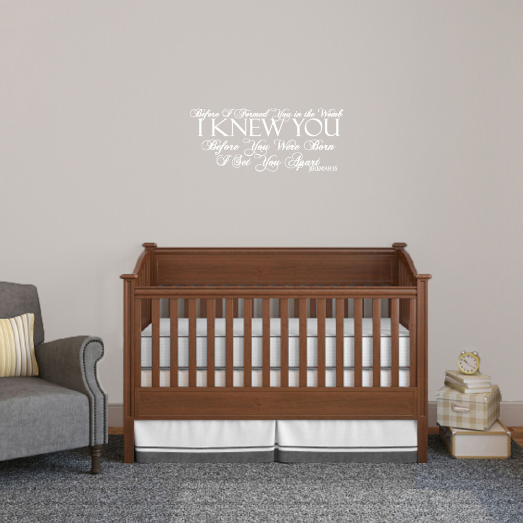 """Before I Formed You Wall Decals Wall Stickers 24"""" wide x 10"""" tall Sample Image"""