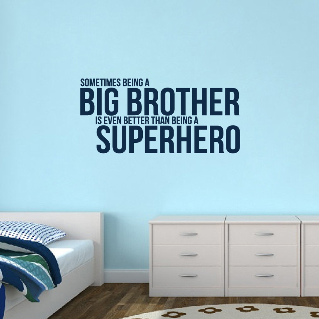 """Big Brother Wall Decals 48"""" wide x 22.5"""" tall Sample Image"""