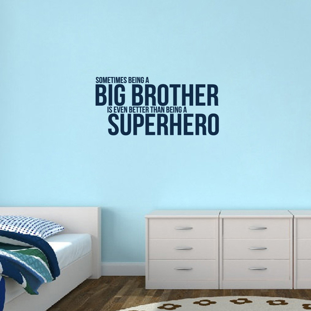 """Big Brother Wall Decals 38"""" wide x 18"""" tall Sample Image"""