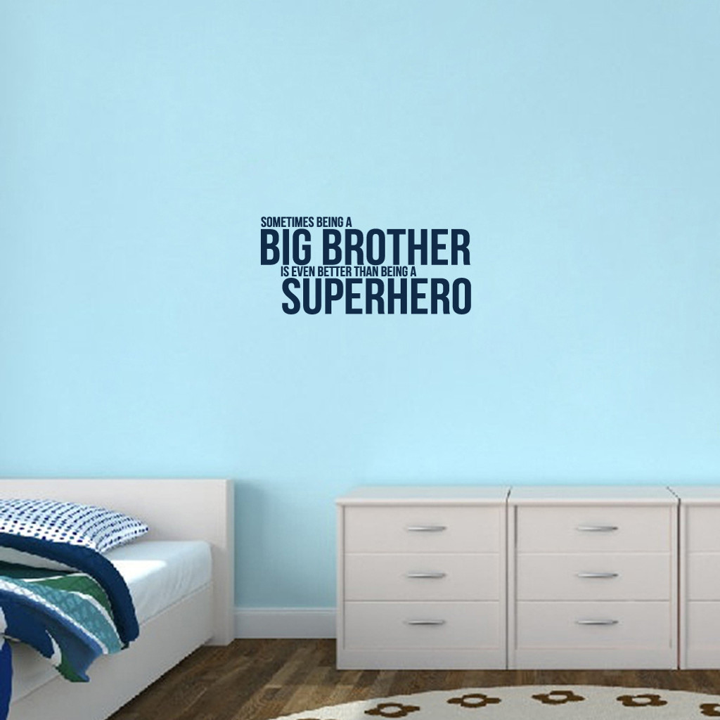 """Big Brother Wall Decals 28"""" wide x 13"""" tall Sample Image"""
