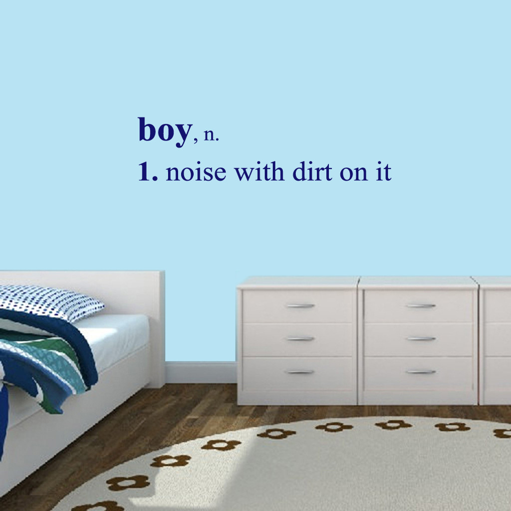 "Boy Wall Decals Wall Stickers 48"" wide x 12"" tall Sample Image"