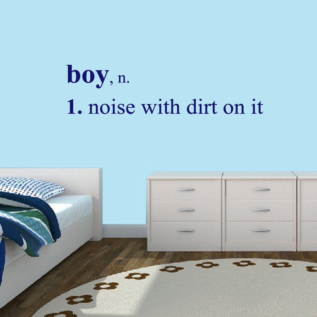 "Boy Wall Decals Wall Stickers 60"" wide x 15"" tall Sample Image"