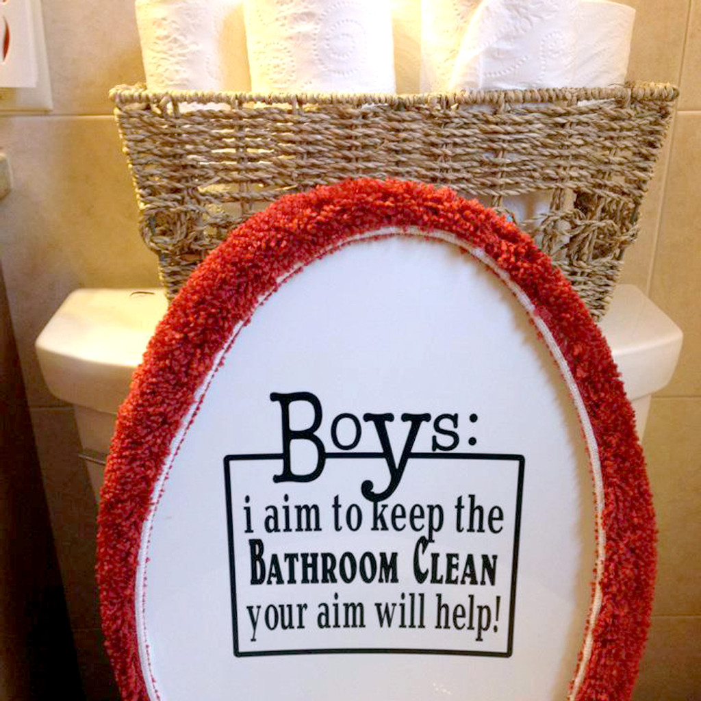 Boys: Your Aim Will Help Wall Decals Wall Stickers