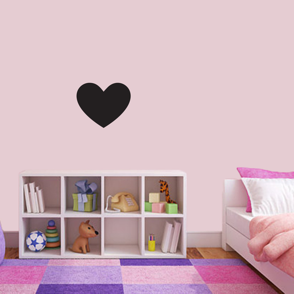 """Chalkboard Heart Wall Decals 12"""" wide x 10"""" tall Sample Image"""