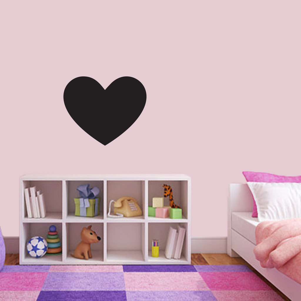 """Chalkboard Heart Wall Decals 18"""" wide x 15"""" tall Sample Image"""