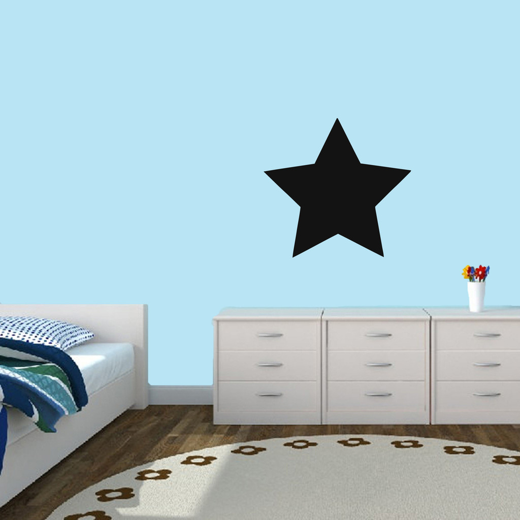 "Chalkboard Star Wall Decals 18"" wide x 17"" tall Sample Image"