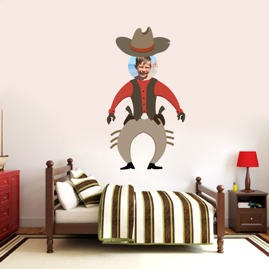 Custom Cowboy Photo Wall Decals and Stickers