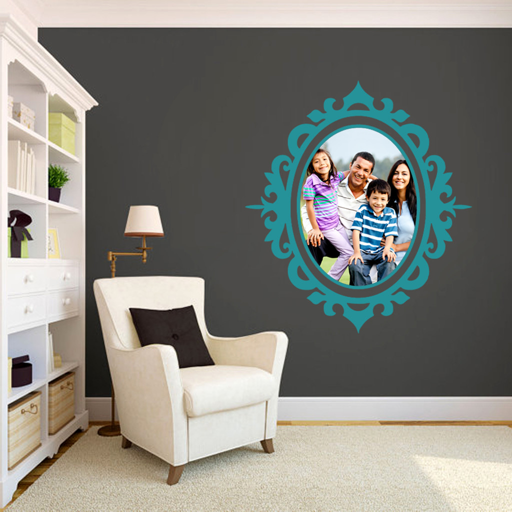 Custom Ornate Frame Photo Wall Decals and Stickers