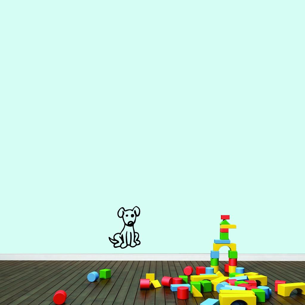"Cartoon Dog Wall Decals 9"" wide x 12"" tall Sample Image"