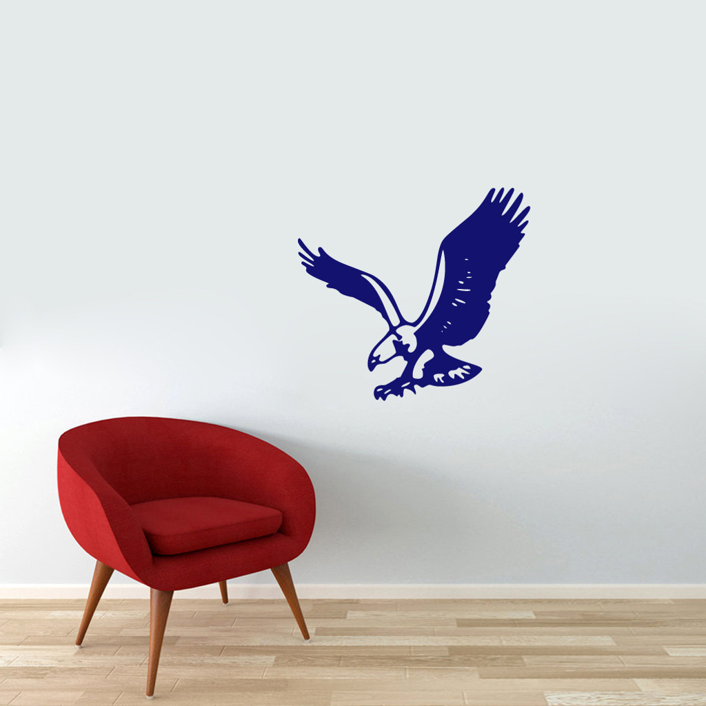 "Flying Eagle Wall Decals 24"" wide x 22"" tall Sample Image"