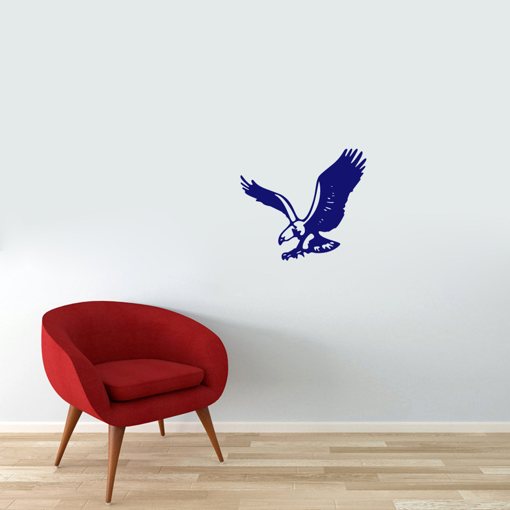 "Flying Eagle Wall Decals 18"" wide x 16"" tall Sample Image"