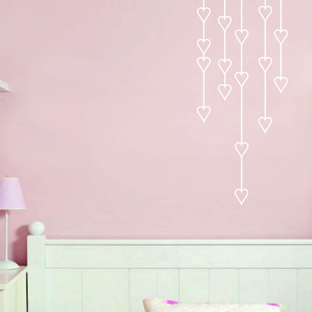 Hanging Hearts Wall Decals and Stickers