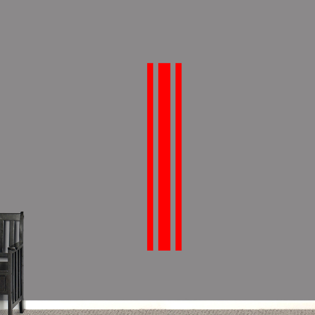 """Sport Stripe Wall Decals 11"""" wide x 60"""" tall Sample Image"""
