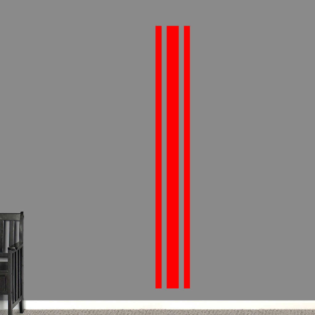 """Sport Stripe Wall Decals 11"""" wide x 84"""" tall Sample Image"""