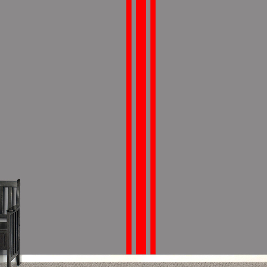 """Sport Stripe Wall Decals 11"""" wide x 96"""" tall Sample Image"""