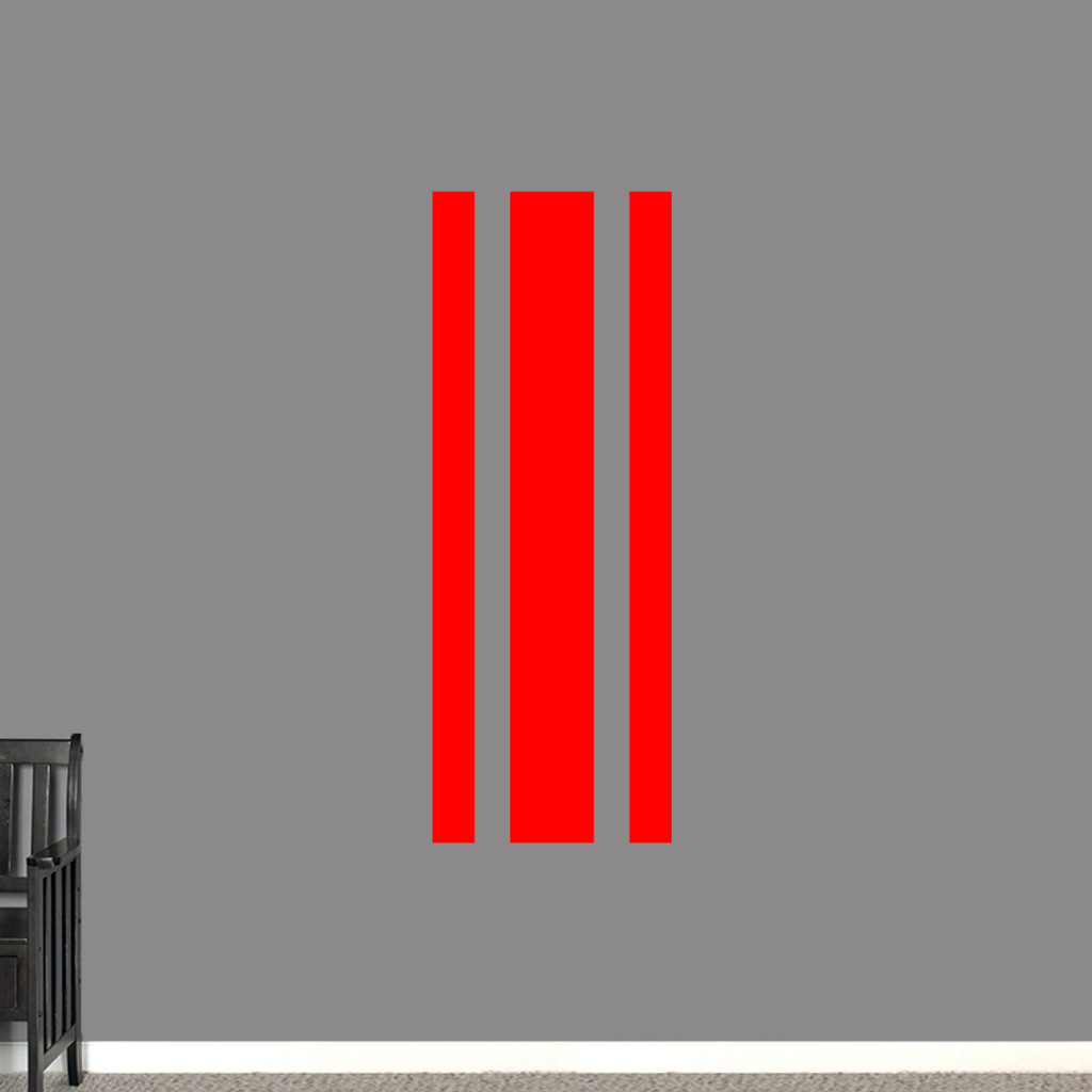 """Sport Stripe Wall Decals 22"""" wide x 60"""" tall Sample Image"""
