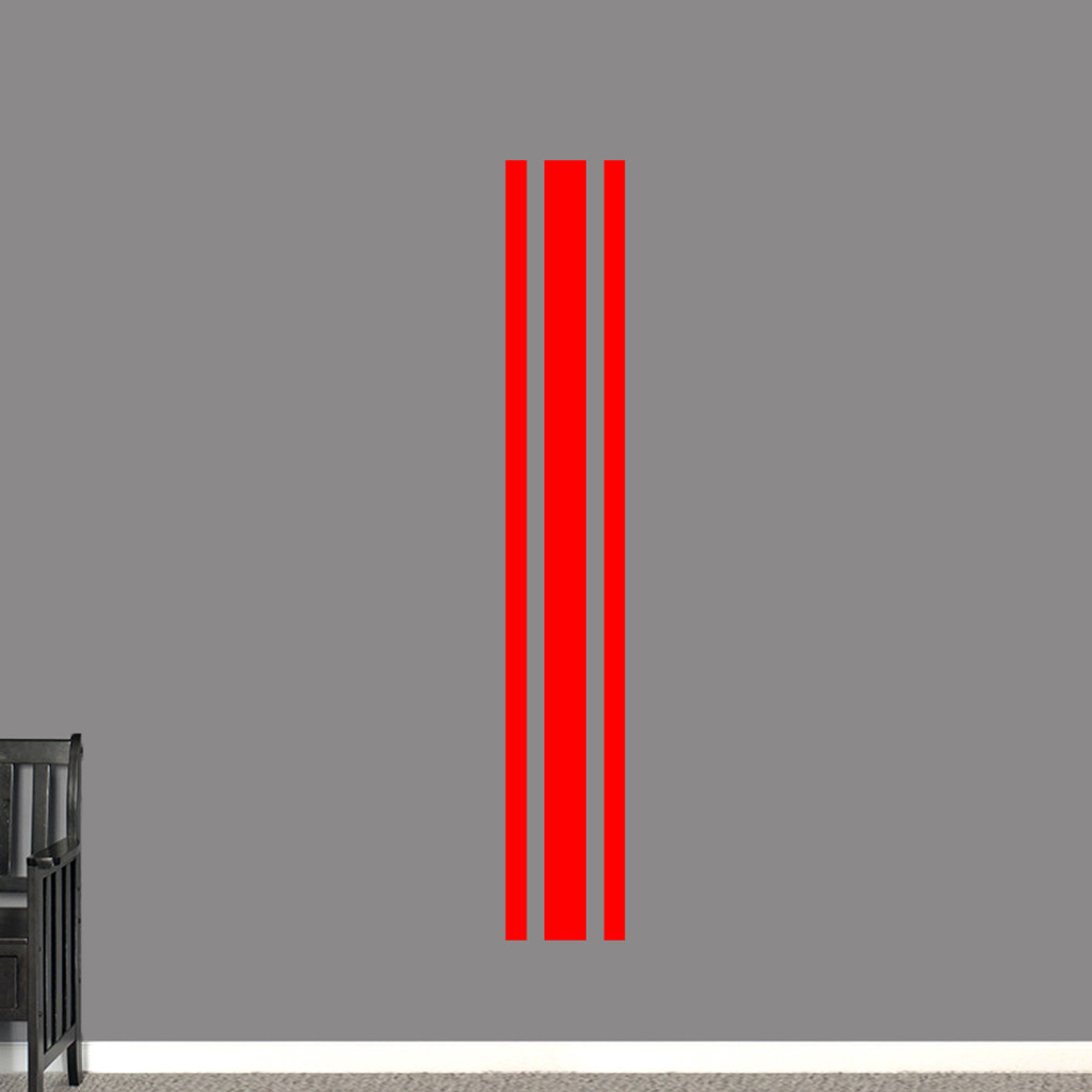"""Sport Stripe Wall Decals 11"""" wide x 72"""" tall Sample Image"""