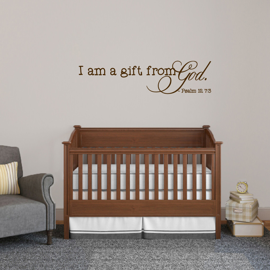 I am a gift from god wall decals wall decor stickers i am a gift from god wall decals 48 wide x 12 tall sample amipublicfo Image collections
