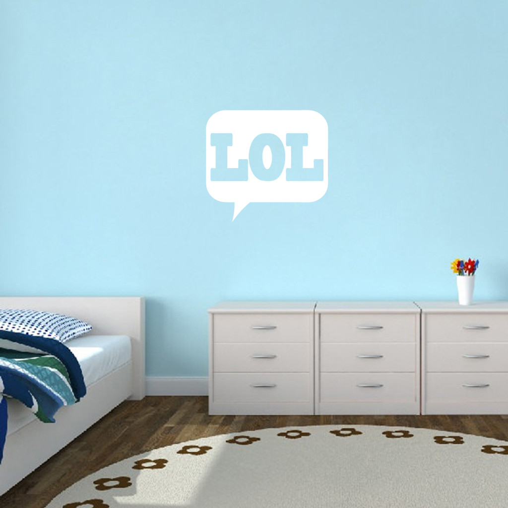 """LOL Wall Decals 24"""" wide x 22"""" tall Sample Image"""