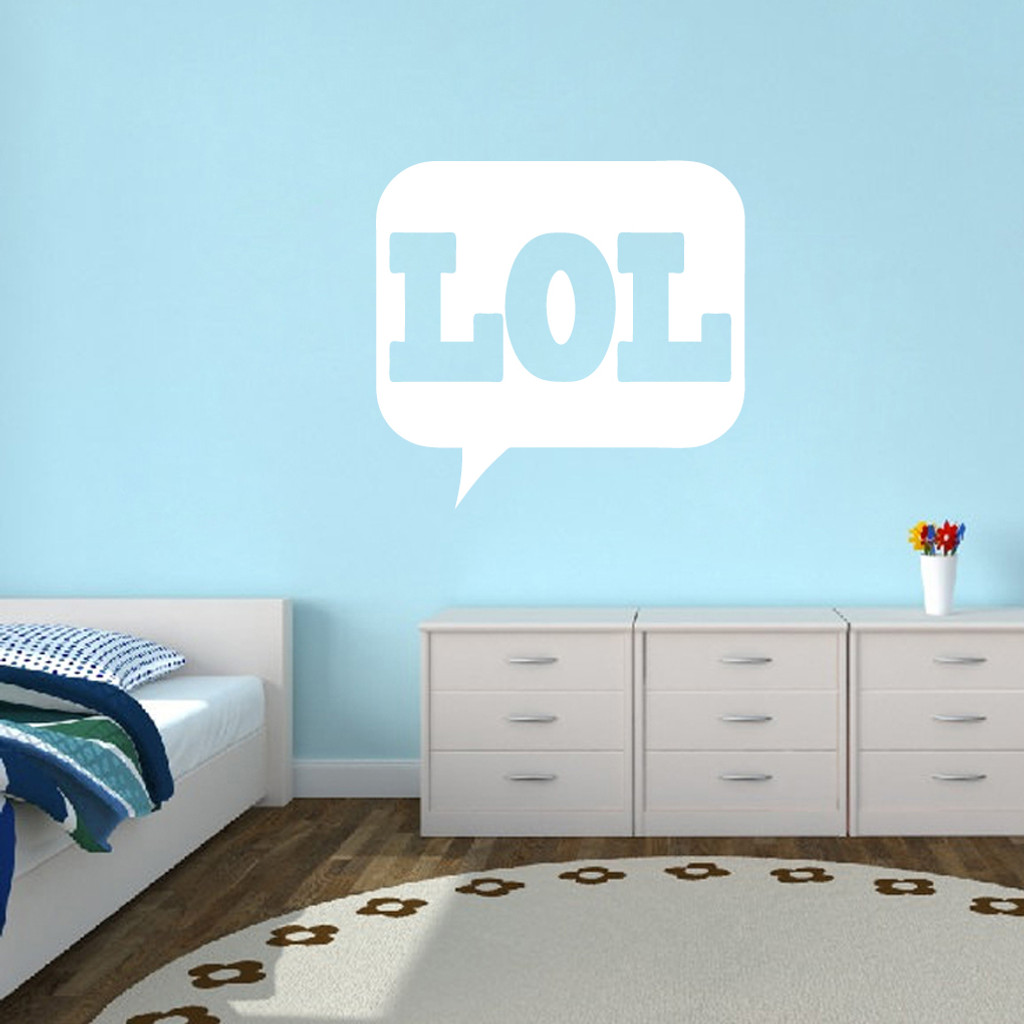 """LOL Wall Decals 36"""" wide x 34"""" tall Sample Image"""