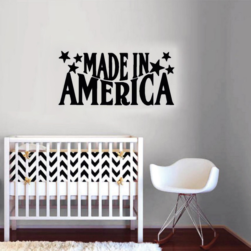 Made In America Wall Decals Wall Stickers