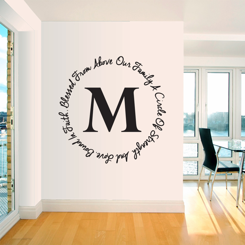 Our Family Custom Monogram Wall Decals and Stickers