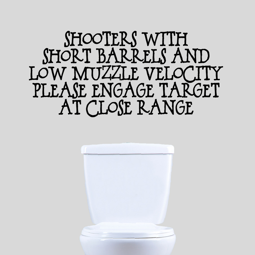 """Shooters with Short Barrels Wall Decals 36"""" wide x 16"""" tall Sample Image"""