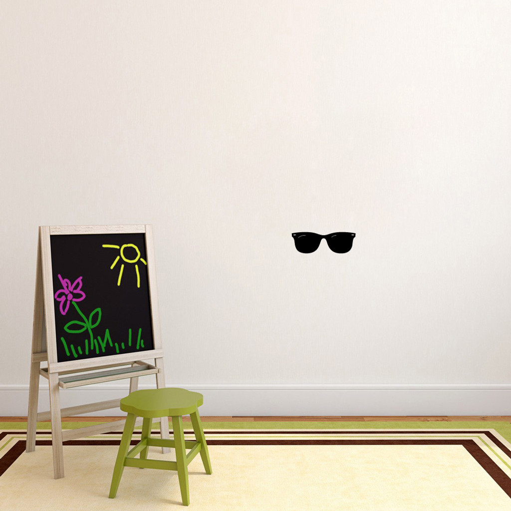 """Sunglasses Wall Decals 12"""" wide x 4"""" tall Sample Image"""