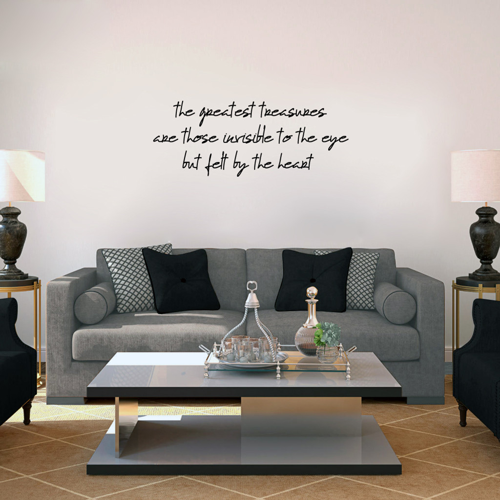 "Greatest Treasures Wall Decals 36"" wide x 14"" tall Sample Image"