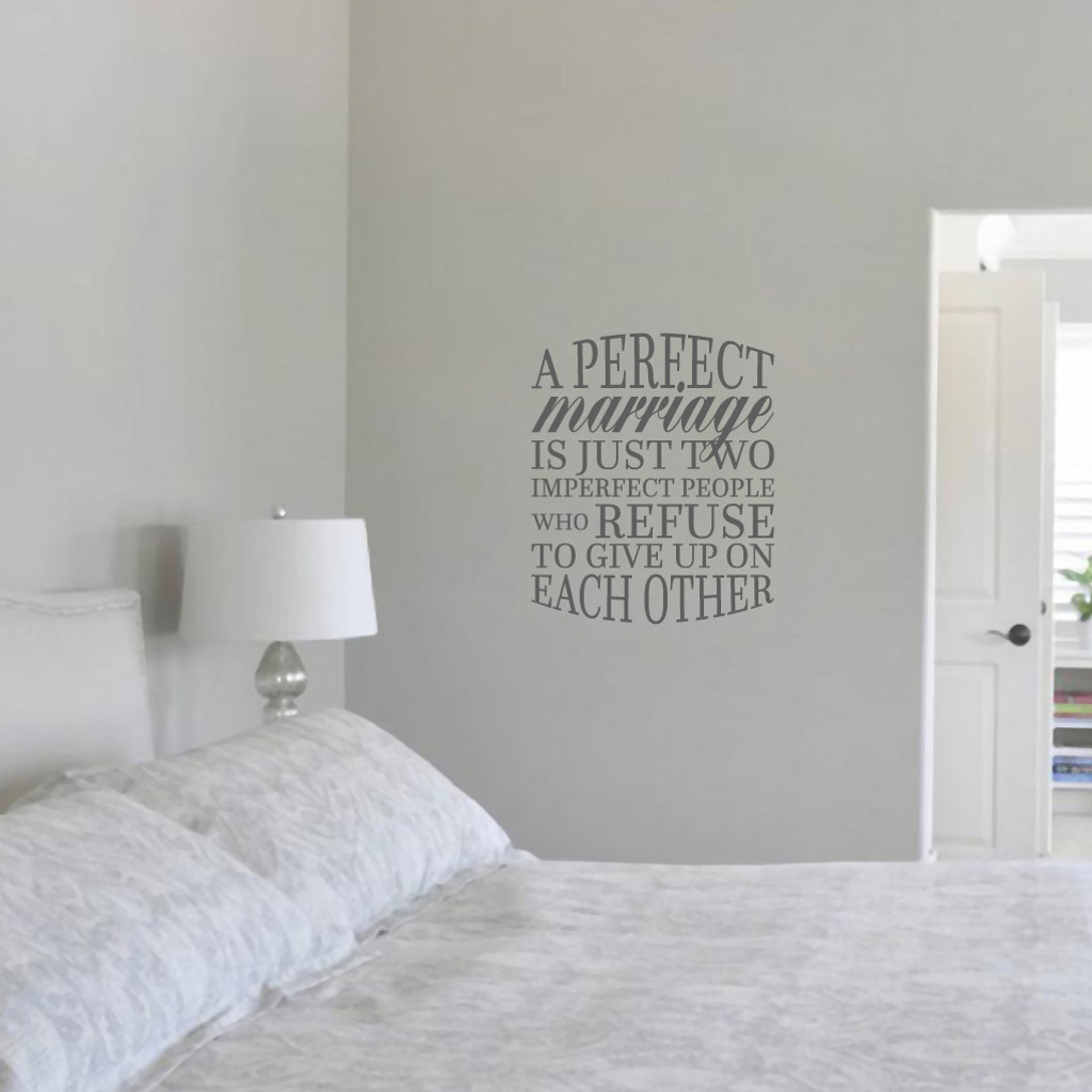 "A Perfect Marriage Wall Decal 20"" wide x 24"" tall Sample Image"