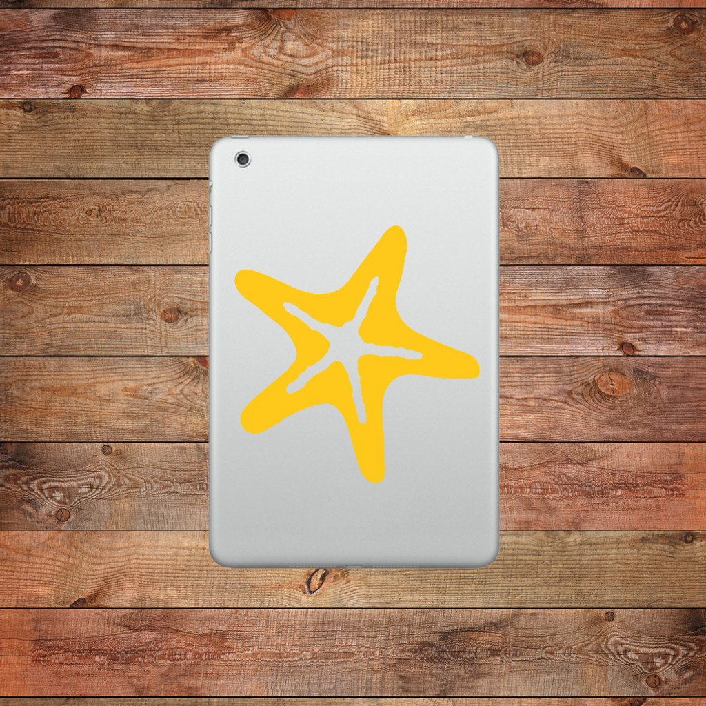 Starfish Device Decal Water Bottle Stickers
