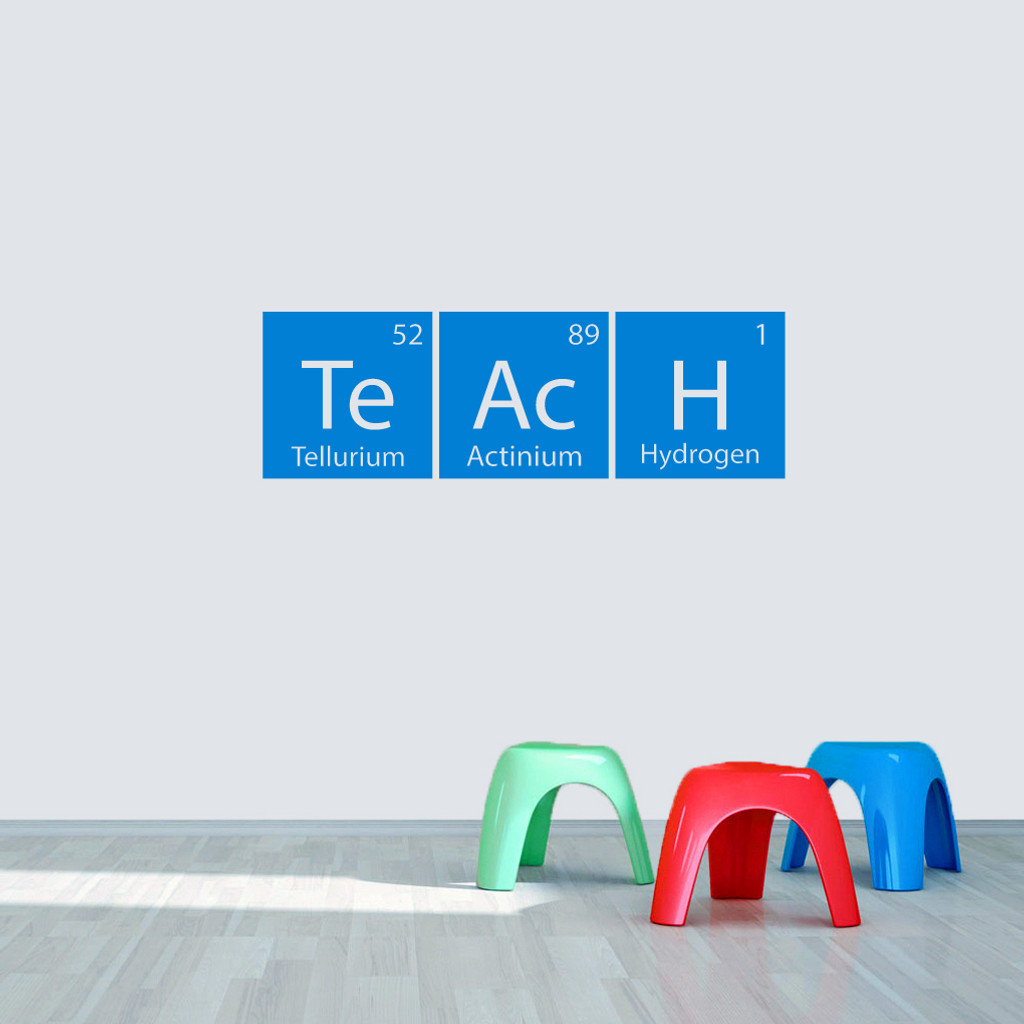 "Teach Periodic Table 36"" wide x 11.5"" tall  Sample Image"