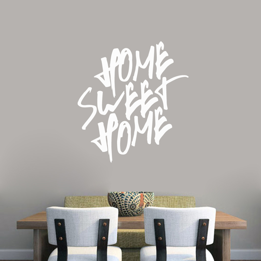 "Home Sweet Home Wall Decal 33"" wide x 36"" tall Sample Image"