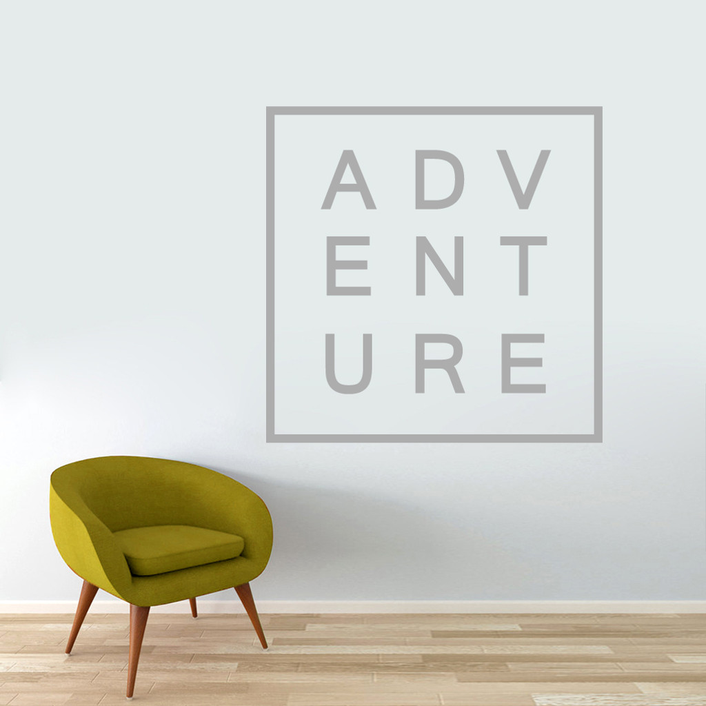 "Adventure Wall Decal 48"" wide x 48"" tall Sample Image"