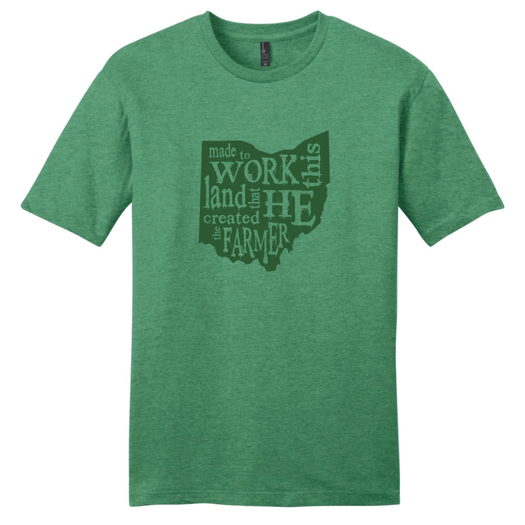 The Farmer Heathered Kelly Green T-Shirt