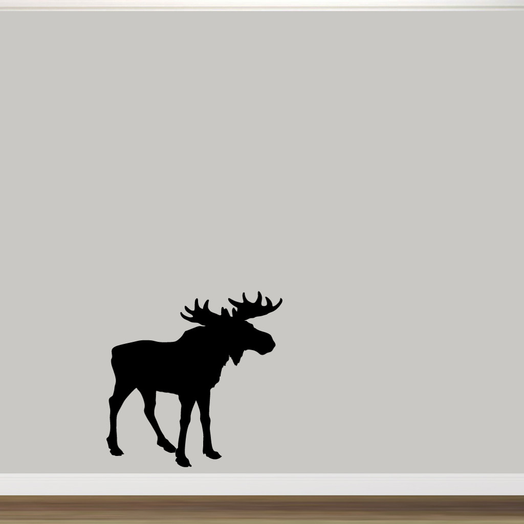 """Moose Silhouette Wall Decal 36"""" wide x 36"""" tall Sample Image"""