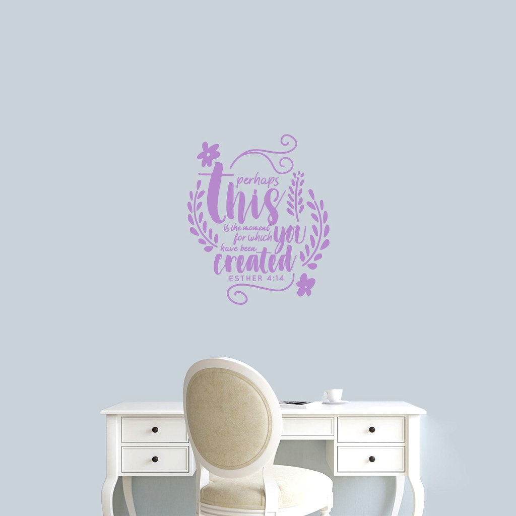 """Perhaps This Is The Moment Wall Decal 20"""" wide x 24"""" tall Sample Image"""