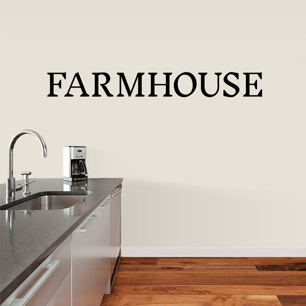 """Farmhouse Wall Decal 60"""" wide x 7"""" tall Sample Image"""