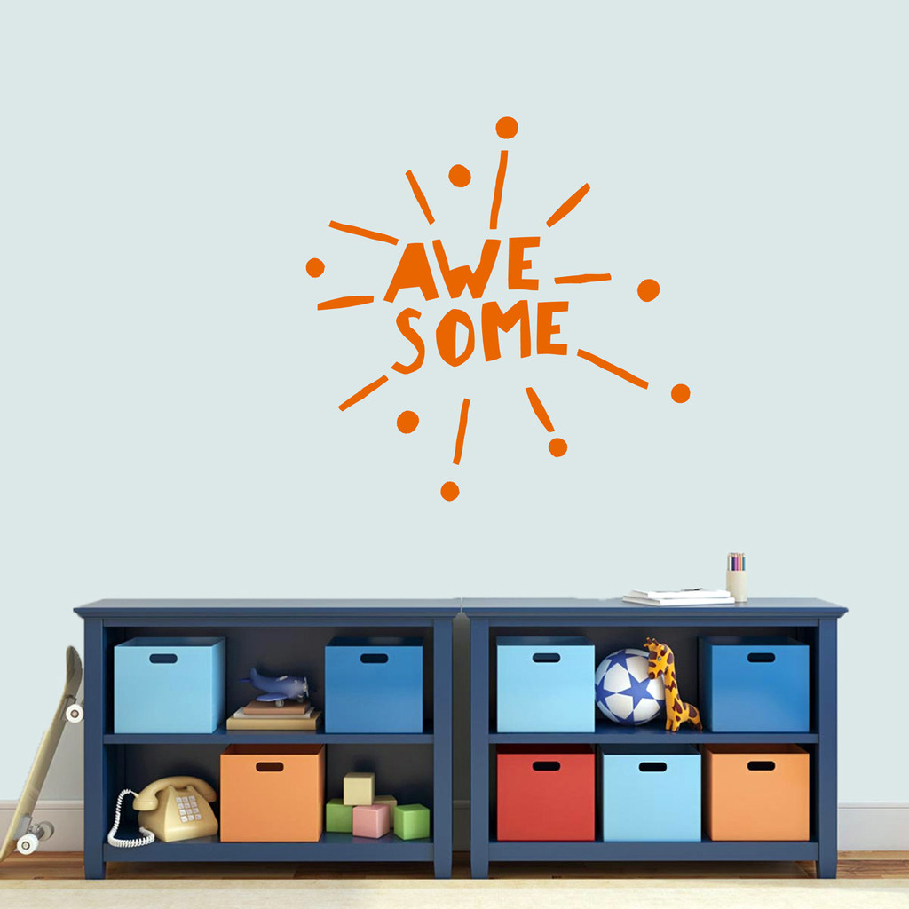 """Awesome Burst Wall Decal 36"""" wide x 36"""" tall Sample Image"""