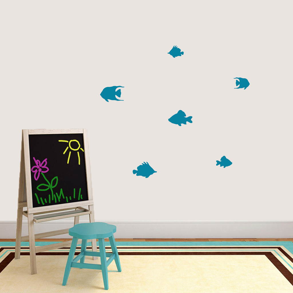 Set Of Fish Wall Decals Small Sample Image