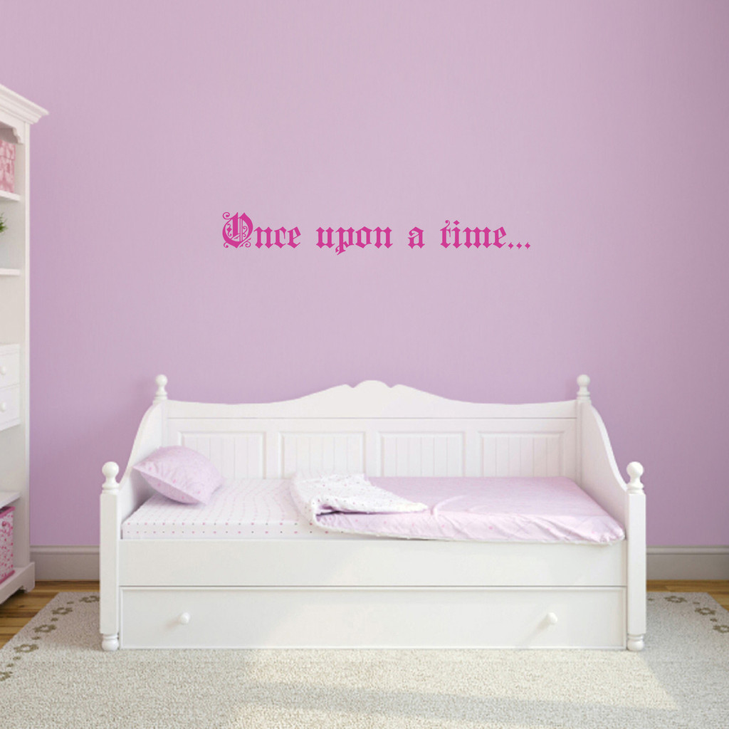"""Once Upon A Time Wall Decal 36"""" wide x 5"""" tall Sample Image"""