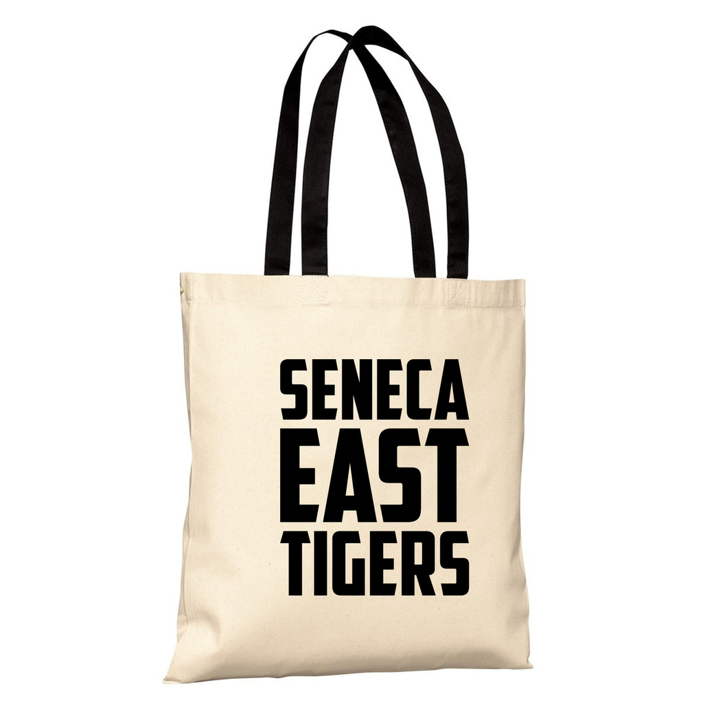 Natural / Black Seneca East Tigers Basic Tote Bag