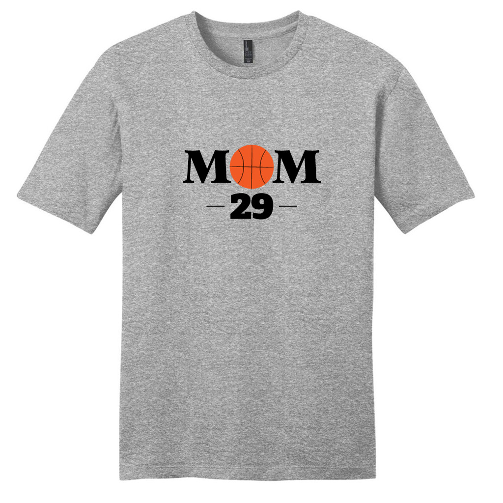Light Heathered Gray Custom Basketball Mom T-Shirt